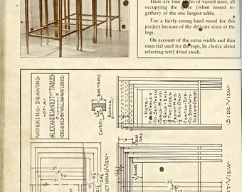 SELECTED FURNITURE DRAWINGS Book  William w Klenke Vintage copyright 1930 Industrial Arts Instruction Projects 1075