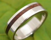 Equinox Nacascolo Wood Ring with Recycled Silver - ecofriendly wedding band, wood wedding ring, mens wood wedding ring, women's wood ring