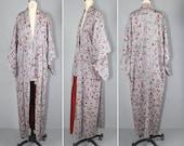 1950s / vintage kimono / silk robe / MODERN GLYPH silk kimono