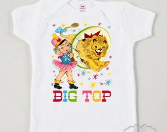 Birthday Circus Shirt - Lion Tamer Tee - Circus Lion Shirt - Circus Party Shirt - Big Top Shirt - Circus Girl Shirt - Baby Big Top Vintage