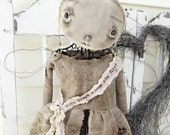 Tattered Angel Standing Mannequin Cage Doll Metal Industrial Steam Punk Dirty Primitive Hand Made Fabric ooak Veenas Mercantile Kim Kohler