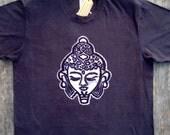 Buddha batik yoga eco friendly bio organic cotton tshirt men vintage black size XS, S, M, L, XL, XXL