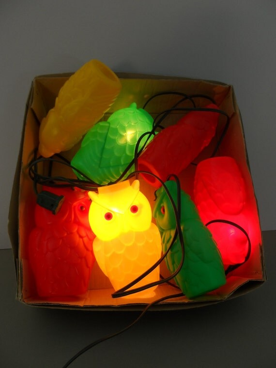 Vintage Owl String Lights Patio Lights Blow Mold Hooters