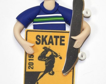 Skateboarder Ornament