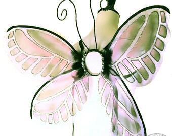 Kaylee No.8, Medium Fairy Wings in Lavender, Black & Pink