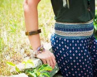 Verawood Green Wood Bangle - Scalloped - Funky Shape - Bohemian - Wavy - Woodworking - Natural and Earthy - Boho Womens Jewelry - Cuff Wavy