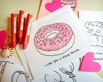 Sweet Valentines to Print and Color