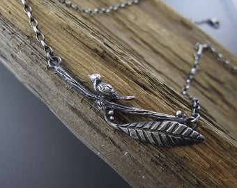 Nature Chick Handmade Sterling Silver Pendant with Adjustable Necklace