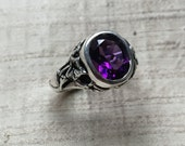 The Ivy Ring in Amethyst and Sterling