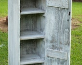 Nursery Shelf, Nursery Cabinet, Wood Cupboard. Wooden Pantry, Pickled White, Distressed. Jelly Cabinet. Storage, Reclaimed Wood Furniture.