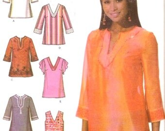 Boho Chic tunic top blouse sewing pattern Simplicity 4659 Casual Summer style Bust 30 1/2 to 34 Uncut