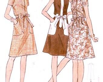 A line dress 60s mod style Summer vintage sewing pattern Butterick 6214 Half size Bust 37