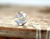 Quartz Necklace, Northern Lights, Aurora Borealis, Rock Crystal, Slider Necklace, Gemstone Necklace, Rainbow Jewelry, Sterling Silver- Float