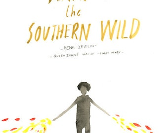 Beasts of the Southern Wild - Original wonky movie poster painting