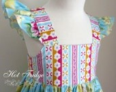 Flutter sleeve dress, Grace, party dress, made to order