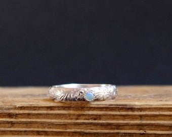 Opal Ring Gemstone Ring October Birthstone Ring Promise Ring Stack Ring