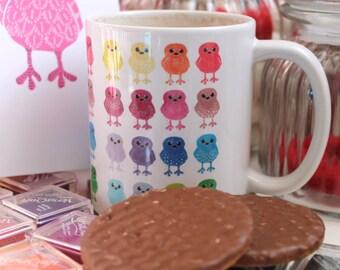 Sale Rainbow Birds Mug