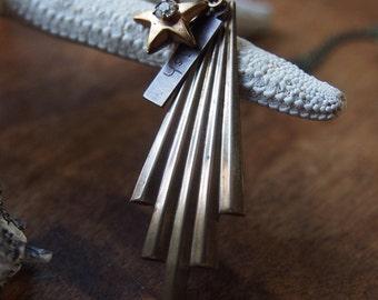 vintage shooting star wish necklace // N063