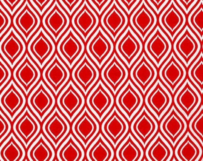 Sale fabric, 6 dollars per yard sale, Quilting fabric, Red fabric, Metro Living fabric- Mod Stencil in Red- Choose The Cut