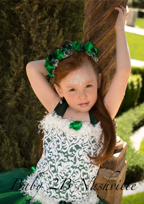 Emerald Matching Floral Crown for your dress