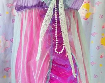 SALE Mint green sheer nightie babydoll lingerie seapunk clothing fairy kei size M L medium large