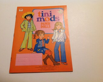 Vintage New 1968 Tini Mods Paper Doll Book #1945