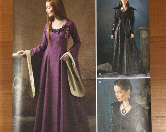 Game of Thrones Inspired Dress Sewing Pattern Simplicity 1137 UNCUT Sizes 8-10-12-14 Gown Sansa Stark Black Purple Wedding