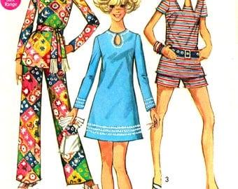 Keyhole  Dress Size 9/10 Simplicity 8758