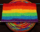 Neon Rainbow Sock Yarn, Self striping, Wide Stripes, Sock Yarn, Hand Dyed, Rainbow Yarn, Merino/Nylon - BRIGHT RAINBOW