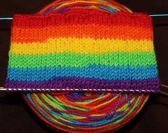 Neon Rainbow, Wide Stripes, Self striping Sock Yarn, Hand Dyed, Merino/Nylon - BRIGHT RAINBOW