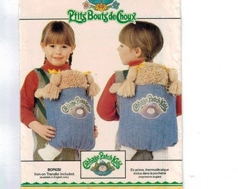 1980s Vintage Sewing Pattern Butterick 6662 Cabbage Patch Kids Baby Carrier Sling Soft Structured Carrier Ergo Style UNCUT 1980s