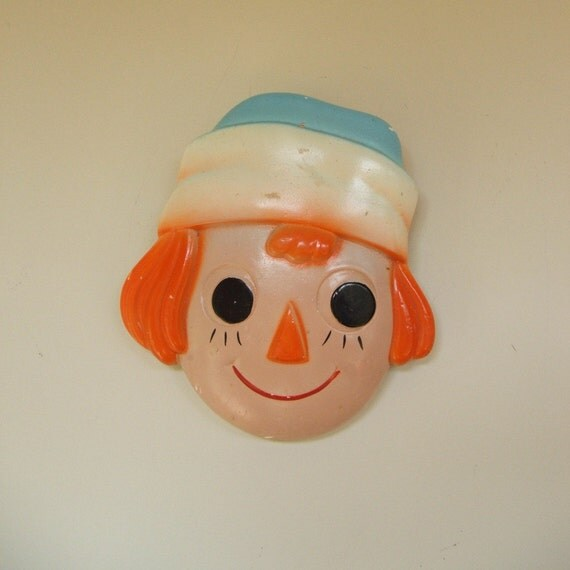 Raggedy Andy Chalk Ware Wall Plaque