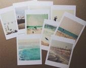 beach photos mini print California photography seaside Los Angeles Venice Santa Monica surfer gift ferris wheel, stocking stuffer under 20
