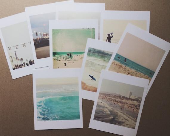 beach photos, mini print, California photography, seaside Los Angeles Venice Santa Monica, surfer gift, stocking stuffer, under 20, nautical