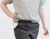 Grey with gold herringbone toddler shorts