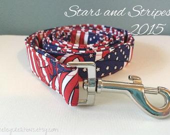 American Flag Patriotic Dog Leash