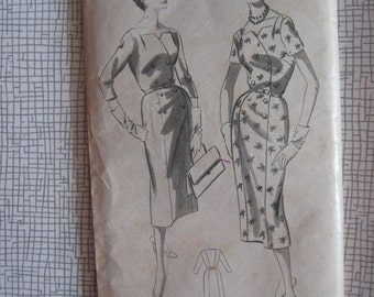 "1950s Dress - 38"" Bust - Weldons 5177 - Vintage Sewing Pattern"