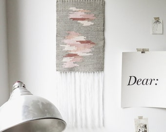 at first blush | hand woven wall hanging tapestry weaving