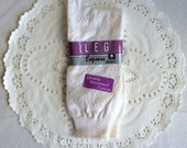 Vintage 1980s Deadstock Cotton Mercerized Textured White nSocks in Original Package NOS 9 -11