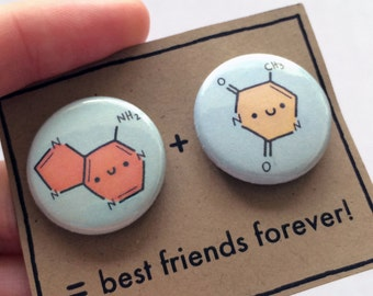 DNA Base Pair BFF Buttons
