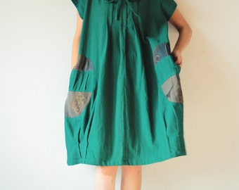 Tulip dress turtle neck...  100% cotton (one size fit from M-XL)
