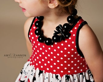 Made to match Purrrty and Petite Cat Dresses by JK Heirloom Chunky Necklace for girls