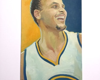 Steph Curry - Original Acrylic Painting published in SF Chronicle