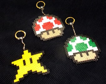 Perler Super Mario Bros. Key Chain, Backpack Decoration