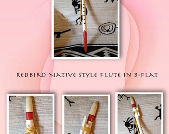 Red Bird Style Native American Flute in B-flat