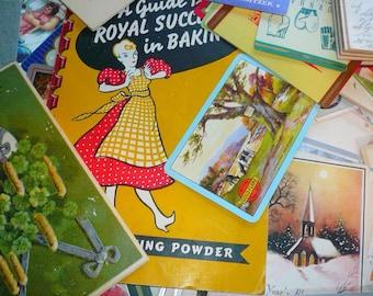 Vintage Papers Ephemera Kit Collage Art Paper Decoupage Papercraft Handmade Papers