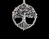 Circle of Life Tree Pendant - Silver - Tree Necklace - Tree of Life Pendant - Tree Pendant - Gift For Mom - Boho Necklace - Boho Jewelry