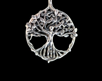 Tree of Life Necklace Tree Pendant Silver Tree Necklace Circle of Life Tree Charm Gift For Mom Boho Necklace Boho Jewelry People Jewelry