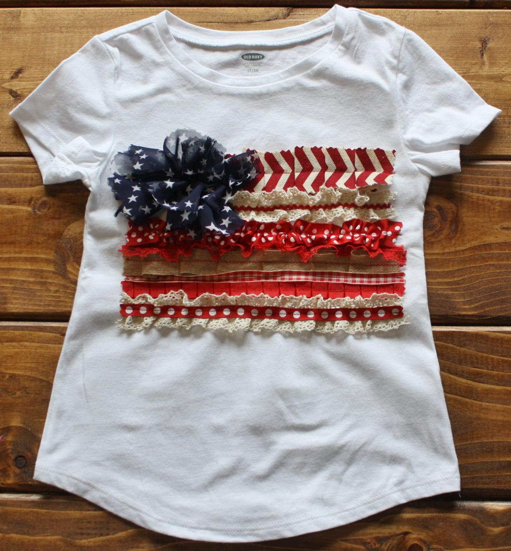 American Flag Shirts Womens