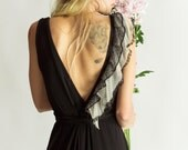 Lily wrap dress in black